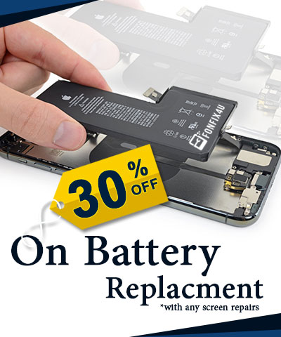 30% OFF on Battery Replacement
