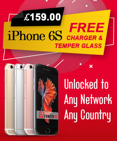 iPhone 6S Unlocked with Free Glass & Charger